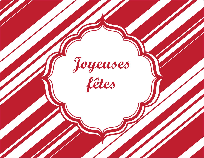 """4¼"""" X 5½"""" Carte Postale - Motif de canne de bonbon"""