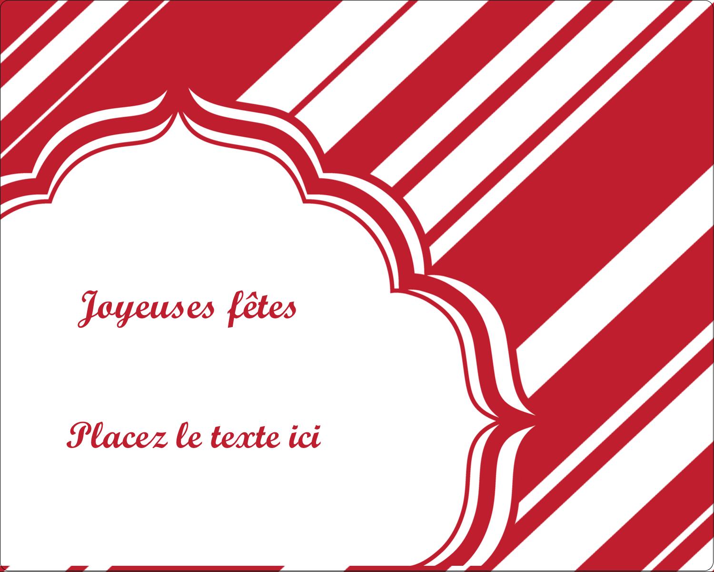 """2"""" Diameter Étiquettes rondes gaufrées - Motif de canne de bonbon"""