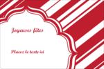 Motif de canne de bonbon Étiquettes rectangulaires - gabarit prédéfini. <br/>Utilisez notre logiciel Avery Design & Print Online pour personnaliser facilement la conception.