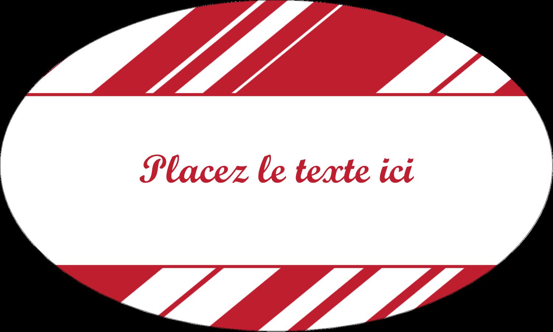 """1½"""" x 1½"""" Étiquettes carrées - Motif de canne de bonbon"""