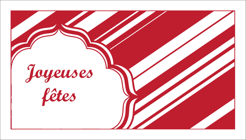 """3"""" x 5"""" Cartes Pour Le Bureau - Motif de canne de bonbon"""