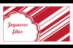 Motif de canne de bonbon Cartes Pour Le Bureau - gabarit prédéfini. <br/>Utilisez notre logiciel Avery Design & Print Online pour personnaliser facilement la conception.