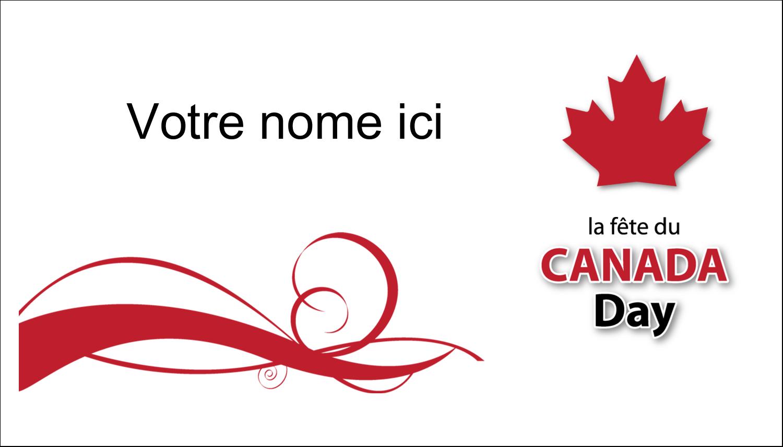 """2"""" x 3½"""" Carte d'affaire - Fête du Canada"""
