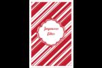 Motif de canne de bonbon Reliures - gabarit prédéfini. <br/>Utilisez notre logiciel Avery Design & Print Online pour personnaliser facilement la conception.