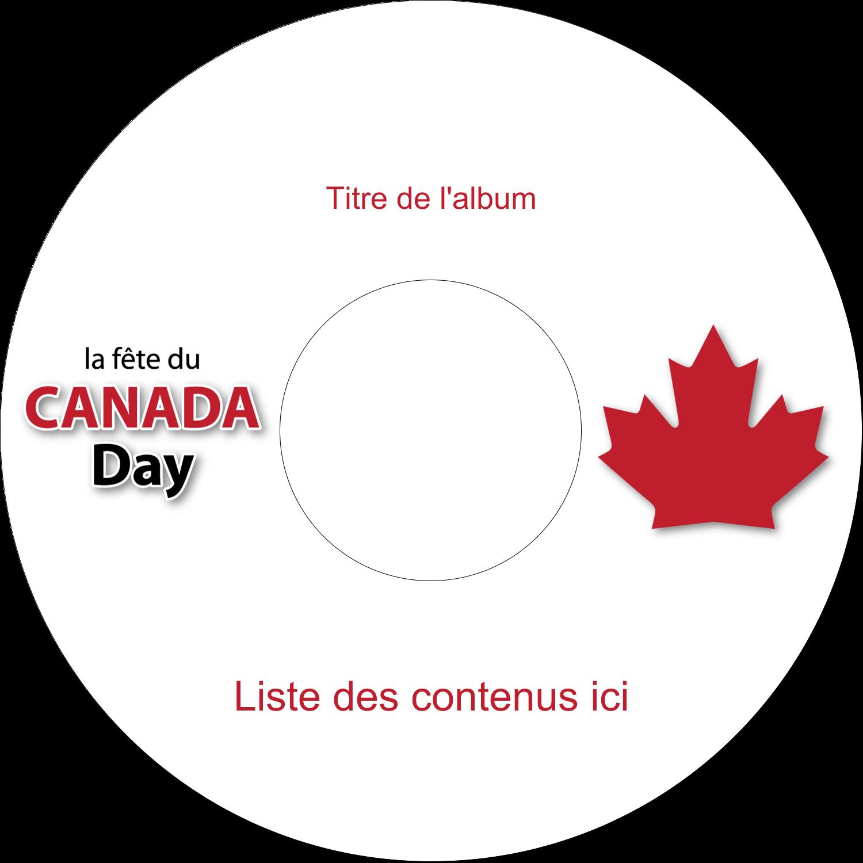 CD/DVD Étiquettes Pour Médias - Fête du Canada