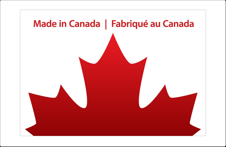 """8½"""" x 5½"""" Étiquettes d'expédition - Fête du Canada"""