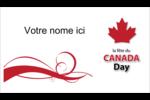 Fête du Canada Cartes d'affaires - gabarit prédéfini. <br/>Utilisez notre logiciel Avery Design & Print Online pour personnaliser facilement la conception.
