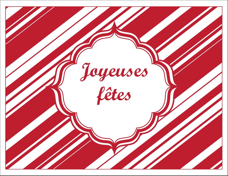 """8½"""" x 11"""" Cartes Et Articles D'Artisanat Imprimables - Motif de canne de bonbon"""