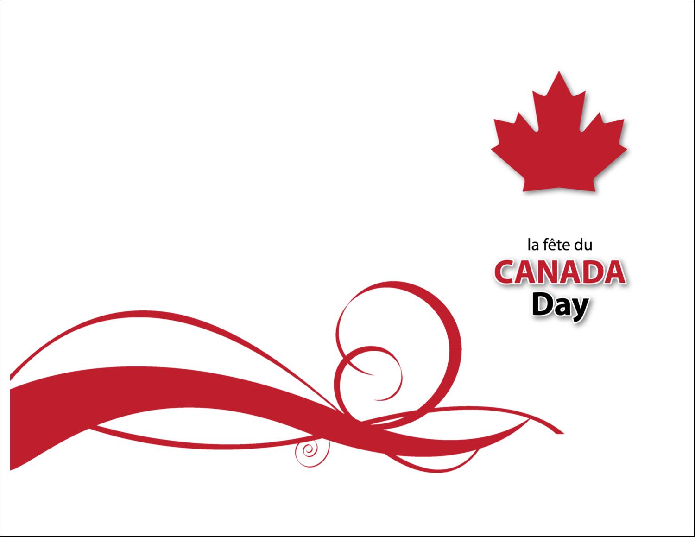 """4¼"""" x 5½"""" Cartes de notes - Fête du Canada"""