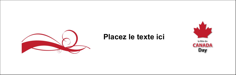 """3½"""" x 11"""" Affichette - Fête du Canada"""