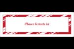 Motif de canne de bonbon Intercalaires / Onglets - gabarit prédéfini. <br/>Utilisez notre logiciel Avery Design & Print Online pour personnaliser facilement la conception.
