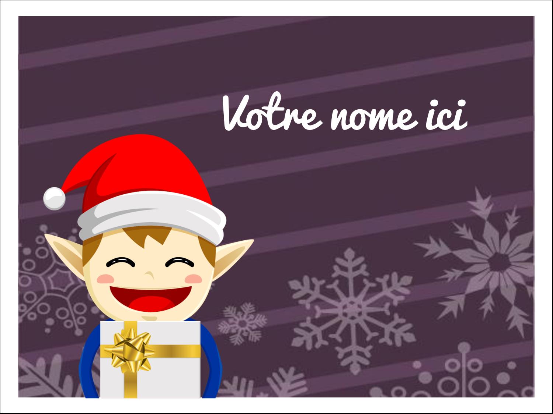 Petit Lutin de Noël Étiquettes badges autocollants - gabarit prédéfini. <br/>Utilisez notre logiciel Avery Design & Print Online pour personnaliser facilement la conception.
