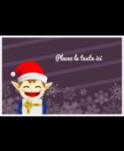Petit Lutin de Noël Cartes de souhaits pliées en deux - gabarit prédéfini. <br/>Utilisez notre logiciel Avery Design & Print Online pour personnaliser facilement la conception.