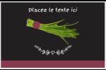Ciboulette, épices et fines herbes sur tableau noir Cartes Et Articles D'Artisanat Imprimables - gabarit prédéfini. <br/>Utilisez notre logiciel Avery Design & Print Online pour personnaliser facilement la conception.