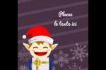 Petit Lutin de Noël Étiquettes carrées - gabarit prédéfini. <br/>Utilisez notre logiciel Avery Design & Print Online pour personnaliser facilement la conception.