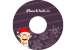 Petit Lutin de Noël Étiquettes Pour Médias - gabarit prédéfini. <br/>Utilisez notre logiciel Avery Design & Print Online pour personnaliser facilement la conception.