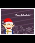 Petit Lutin de Noël Cartes de notes - gabarit prédéfini. <br/>Utilisez notre logiciel Avery Design & Print Online pour personnaliser facilement la conception.