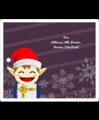Petit Lutin de Noël Étiquettes d'expédition - gabarit prédéfini. <br/>Utilisez notre logiciel Avery Design & Print Online pour personnaliser facilement la conception.