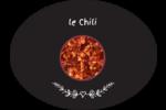 Chili, épices et fines herbes sur tableau noir Étiquettes ovales festonnées - gabarit prédéfini. <br/>Utilisez notre logiciel Avery Design & Print Online pour personnaliser facilement la conception.