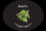 Basilic, épices et fines herbes sur tableau noir Étiquettes ovales festonnées - gabarit prédéfini. <br/>Utilisez notre logiciel Avery Design & Print Online pour personnaliser facilement la conception.