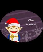 Petit Lutin de Noël Étiquettes ovales - gabarit prédéfini. <br/>Utilisez notre logiciel Avery Design & Print Online pour personnaliser facilement la conception.