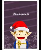Petit Lutin de Noël Étiquettes rectangulaires - gabarit prédéfini. <br/>Utilisez notre logiciel Avery Design & Print Online pour personnaliser facilement la conception.