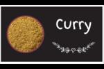Cari, épices et fines herbes sur tableau noir Carte d'affaire - gabarit prédéfini. <br/>Utilisez notre logiciel Avery Design & Print Online pour personnaliser facilement la conception.