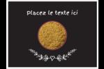 Cari, épices et fines herbes sur tableau noir Badges - gabarit prédéfini. <br/>Utilisez notre logiciel Avery Design & Print Online pour personnaliser facilement la conception.