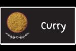 Cari, épices et fines herbes sur tableau noir Étiquettes de classement écologiques - gabarit prédéfini. <br/>Utilisez notre logiciel Avery Design & Print Online pour personnaliser facilement la conception.