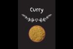 Cari, épices et fines herbes sur tableau noir Carte Postale - gabarit prédéfini. <br/>Utilisez notre logiciel Avery Design & Print Online pour personnaliser facilement la conception.
