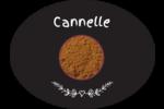 Cannelle, épices et fines herbes sur tableau noir Étiquettes ovales festonnées - gabarit prédéfini. <br/>Utilisez notre logiciel Avery Design & Print Online pour personnaliser facilement la conception.