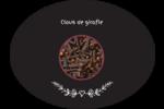 Clou de girofle, épices et fines herbes sur tableau noir Étiquettes ovales festonnées - gabarit prédéfini. <br/>Utilisez notre logiciel Avery Design & Print Online pour personnaliser facilement la conception.