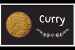 Cari, épices et fines herbes sur tableau noir Cartes Pour Le Bureau - gabarit prédéfini. <br/>Utilisez notre logiciel Avery Design & Print Online pour personnaliser facilement la conception.