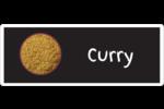 Cari, épices et fines herbes sur tableau noir Étiquettes D'Adresse - gabarit prédéfini. <br/>Utilisez notre logiciel Avery Design & Print Online pour personnaliser facilement la conception.