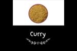 Cari, épices et fines herbes sur tableau noir Étiquettes enveloppantes - gabarit prédéfini. <br/>Utilisez notre logiciel Avery Design & Print Online pour personnaliser facilement la conception.