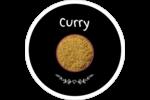 Cari, épices et fines herbes sur tableau noir Étiquettes rondes - gabarit prédéfini. <br/>Utilisez notre logiciel Avery Design & Print Online pour personnaliser facilement la conception.