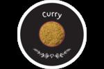 Cari, épices et fines herbes sur tableau noir Étiquettes arrondies - gabarit prédéfini. <br/>Utilisez notre logiciel Avery Design & Print Online pour personnaliser facilement la conception.