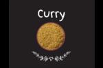 Cari, épices et fines herbes sur tableau noir Étiquettes rondes gaufrées - gabarit prédéfini. <br/>Utilisez notre logiciel Avery Design & Print Online pour personnaliser facilement la conception.