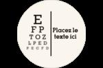 Tableau oculaire Étiquettes rondes - gabarit prédéfini. <br/>Utilisez notre logiciel Avery Design & Print Online pour personnaliser facilement la conception.