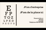 Tableau oculaire Carte d'affaire - gabarit prédéfini. <br/>Utilisez notre logiciel Avery Design & Print Online pour personnaliser facilement la conception.