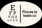 Tableau oculaire Étiquettes carrées - gabarit prédéfini. <br/>Utilisez notre logiciel Avery Design & Print Online pour personnaliser facilement la conception.