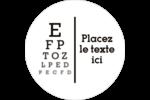 Tableau oculaire Étiquettes arrondies - gabarit prédéfini. <br/>Utilisez notre logiciel Avery Design & Print Online pour personnaliser facilement la conception.