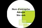 Carrés verts arrondis Étiquettes arrondies - gabarit prédéfini. <br/>Utilisez notre logiciel Avery Design & Print Online pour personnaliser facilement la conception.