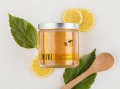 Étiquette claire de miel