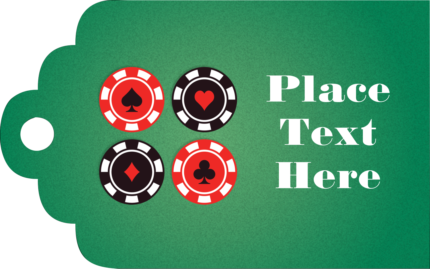 "2"" x 1⅛"" Printable Tags - Poker Game"