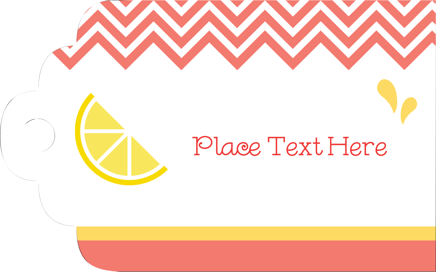 "2"" x 1⅛"" Printable Tags - Fruit Pink"