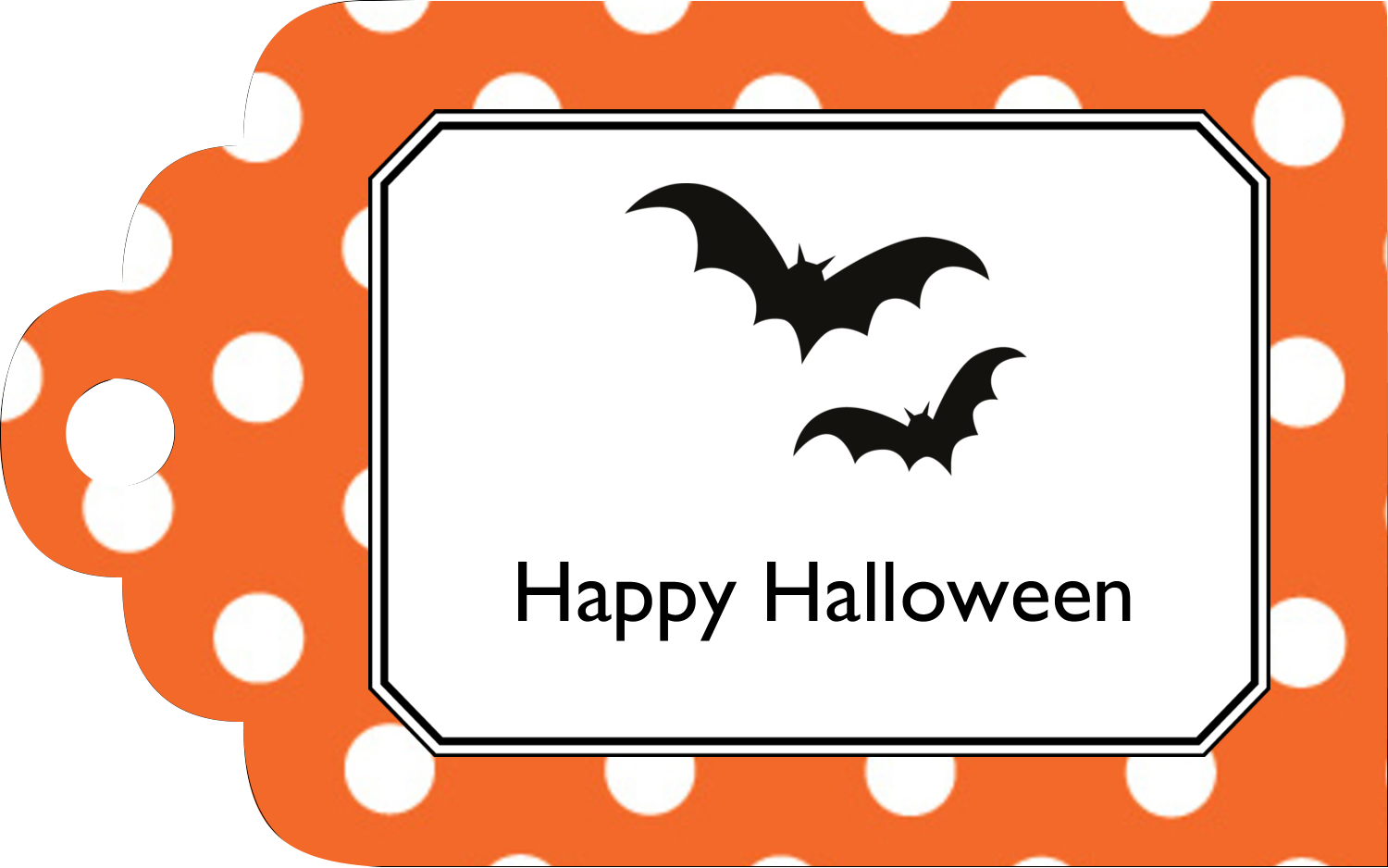 "2"" x 1⅛"" Printable Tags - Kiddie Halloween"