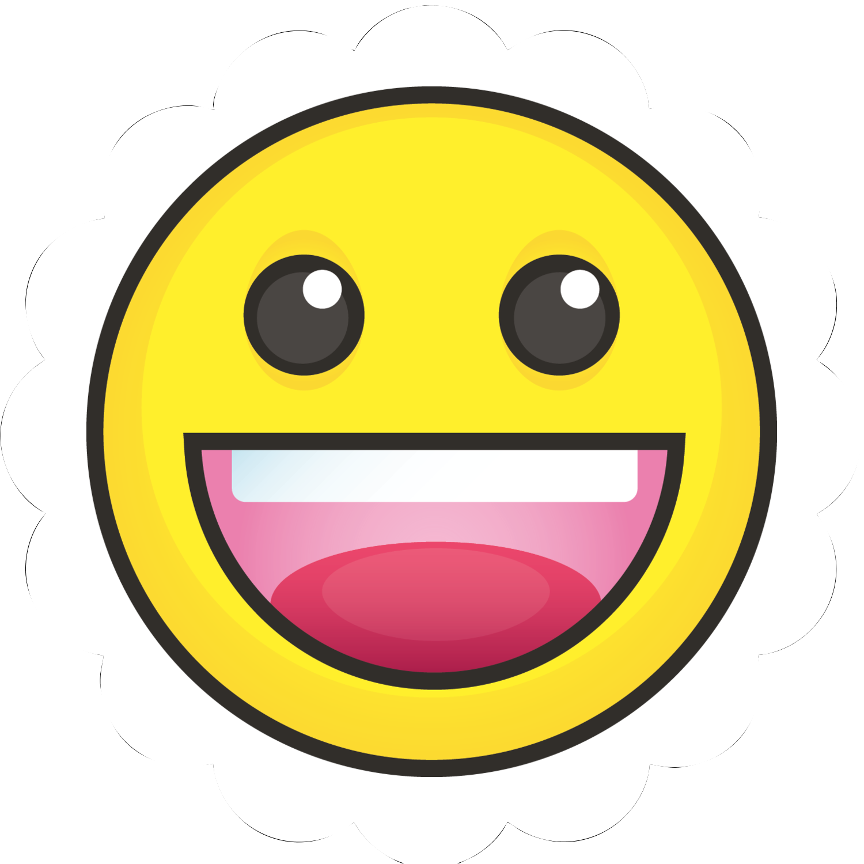 "2½"" Scallop Labels - Emoji Faces"