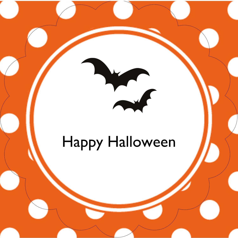 """2½"""" Scallop Labels - Kiddie Halloween"""