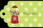 Boules de gomme Étiquettes imprimables - gabarit prédéfini. <br/>Utilisez notre logiciel Avery Design & Print Online pour personnaliser facilement la conception.